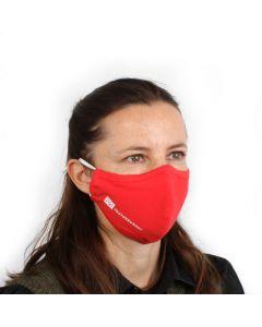 Ansiktsmaske 3-lags med nesebøyle - Rød - pakke á 10 stk.