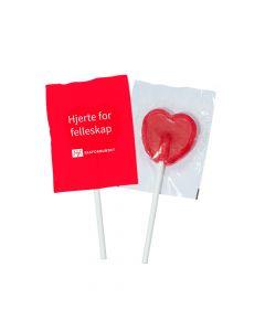 Hjertekjærlighet (pakke á 100 stk) - feil trykk
