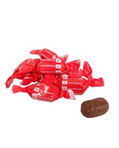 Fløtekaramell trukket med sjokolade - pose á 2 kg