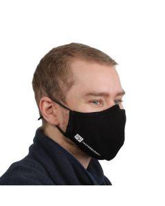 Ansiktsmaske 3-lags med nesebøyle - Sort - pakke á 10 stk