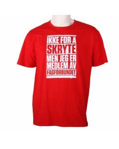 T-skjorte med slagord - Herre /Rod