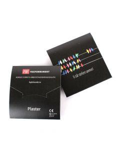Plasterpakker i pappsleeve - pakke á 25 stk