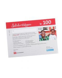 Gavekort SOS-Barnebyer 100 kr