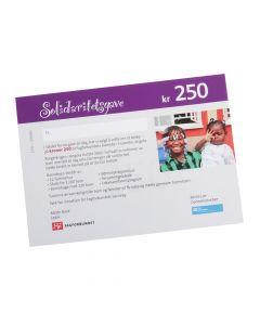 Gavekort SOS-Barnebyer 250 kr