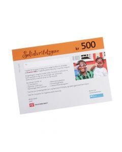 Gavekort SOS-Barnebyer 500 kr